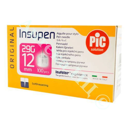 Изображение Стерильные иголки INSUPEN ORIGINAL для инсулиновых ручек 29G x 12 мм (0,33 x 12 мм) №100