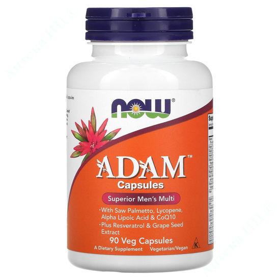Изображение Витаминный комплекс Адам Now Foods капсулы №90