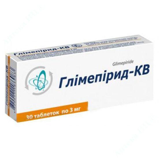 Изображение Глимепирид-КВ таблетки 3 мг №30