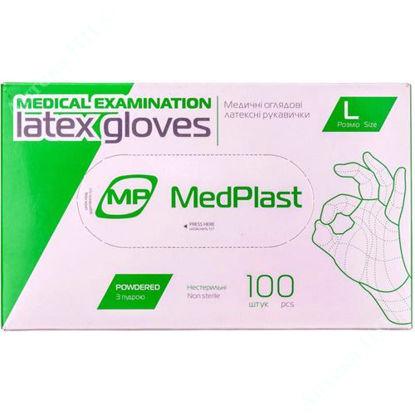 Изображение Перчатки МР смотровые латексные с пудрой нестерильные, размер L №1