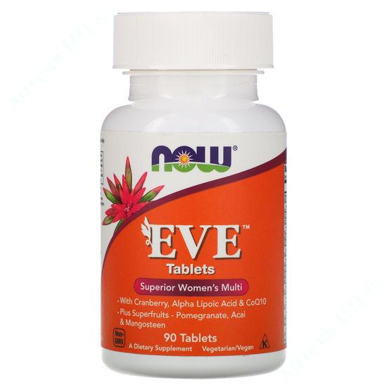 Изображение Витамины для женщин Ева Now Foods таблетки №90