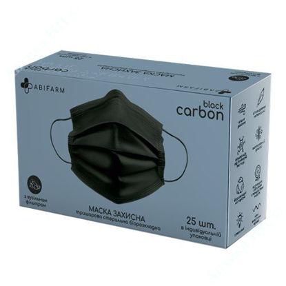 Зображення Захисна маска Abifarm BLACK CARBON з вугільним фільтром, 3-шарова стерильна №25