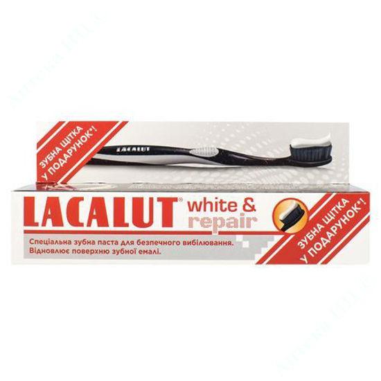 Изображение Лакалут вайт & восстановление зубная паста 75 мл + Лакалут зубна щетка Black-Edition
