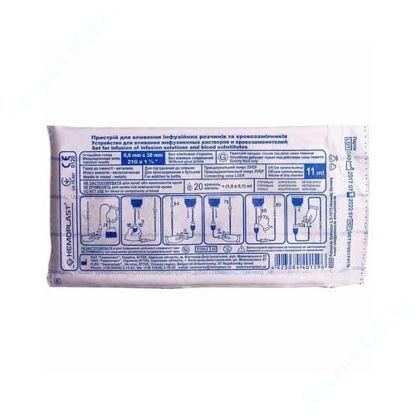 Изображение Устройство для вливания инфузионных растворов HEMOPLAST, стерильное, ВКР (Металлическая игла, Луер) №1
