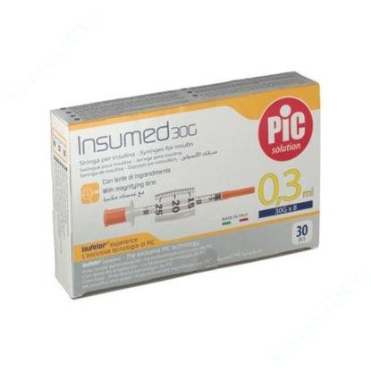 Изображение Стерильные инсулиновые шприцы INSUMED 0,3 мл с иглой 30Gх8 (0,30 х 8 мл), U-100 №1