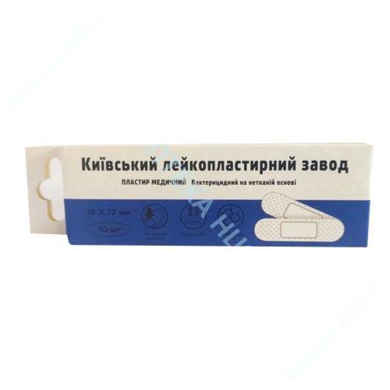 Изображение Пластырь медицинский бактерицидный на нетканной основе 19 мм x 72 мм №10