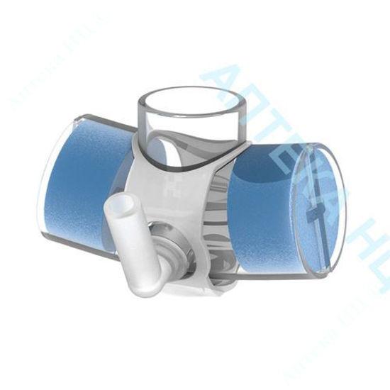 Изображение Тепловлагообменник ThermoTrach с соединителем 15 мм с вентиляционным отверстием и шарнирным портом кислорода