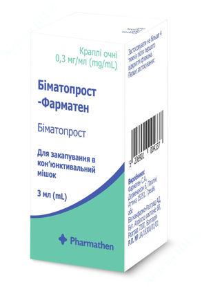 Изображение Биматопрост-Фарматен капли глазные 0,3 мг/мл 3 мл