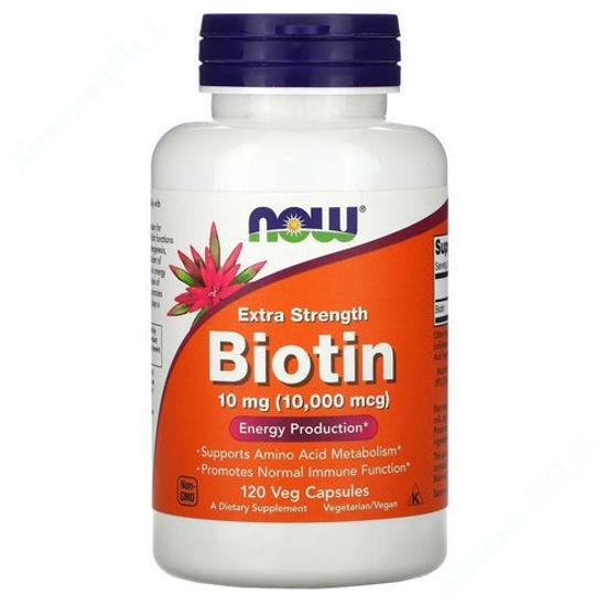 Изображение Биотин Now Foods капсулы 10000 мкг №120