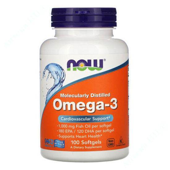 Изображение Омега-3 Поддержка сердца Now Foods капсулы №100