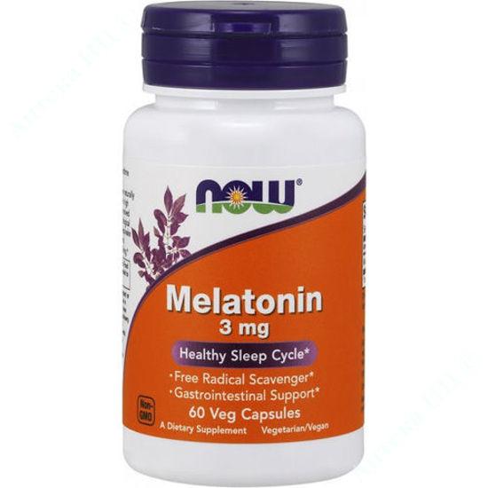 Изображение Мелатонин Now Foods капсулы 3 мг №60