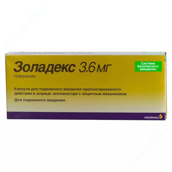 Изображение Золадекс капсулы 3,6 мг шприц-аппликатор + Золадекс капсулы 3,6 мг шприц-аппликатор №1