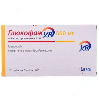 Зображення Глюкофаж XR таблетки 500 мг №30